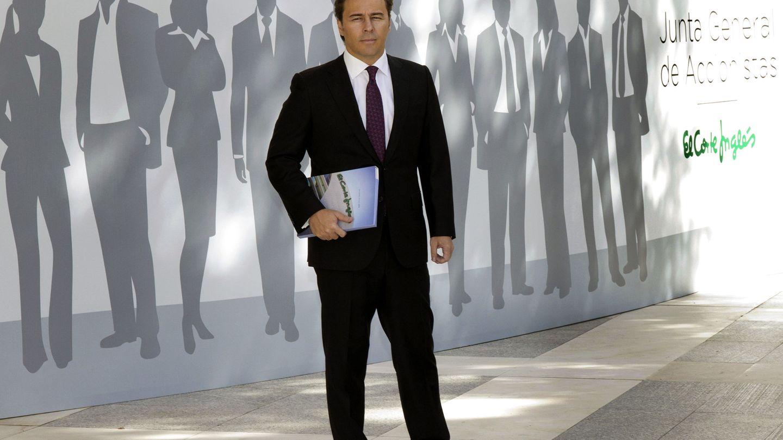 Dimas Gimeno, presidente de El Corte Inglés, en la última junta general de accionistas. (EFE)