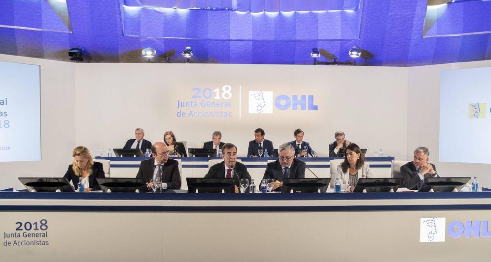 Foto: Imagen de la Junta General de OHL celebrada ayer.