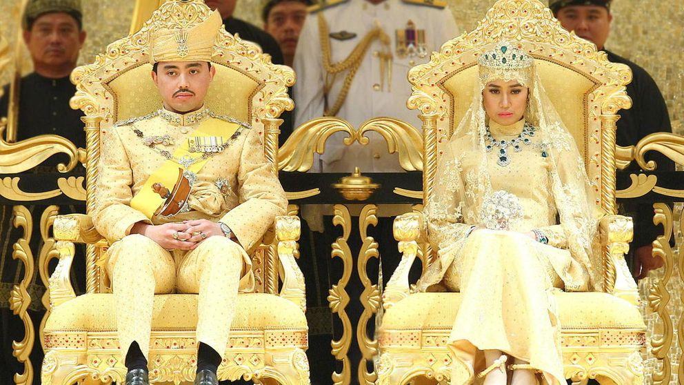 Zapatos de cristal y ramos de joyas: así ha sido la boda del príncipe de Brunéi