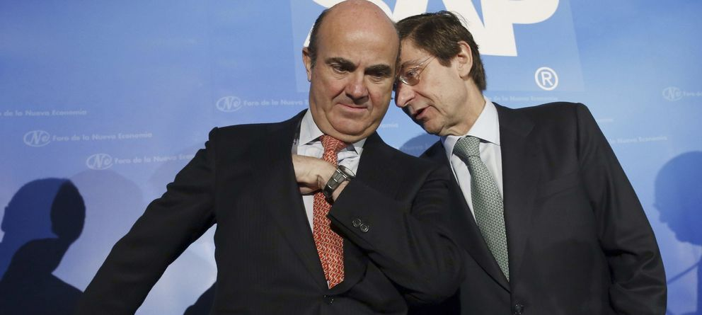 Foto: Luis de Guindos, ministro de Economía, y José Ignacio Goirigolzarri, presidente de Bankia (EFE)
