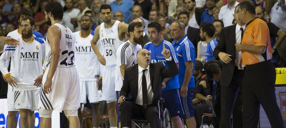 Foto: Pablo Laso perdió los papeles en el cuarto partido (Efe).