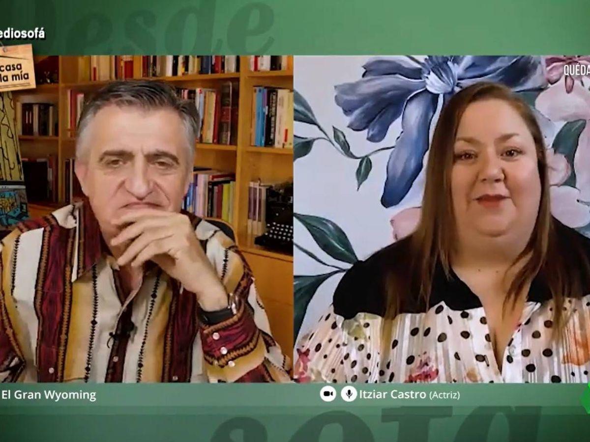 Foto: Itziar Castro, en 'El intermedio: desde el sofá'. (Atresmedia)