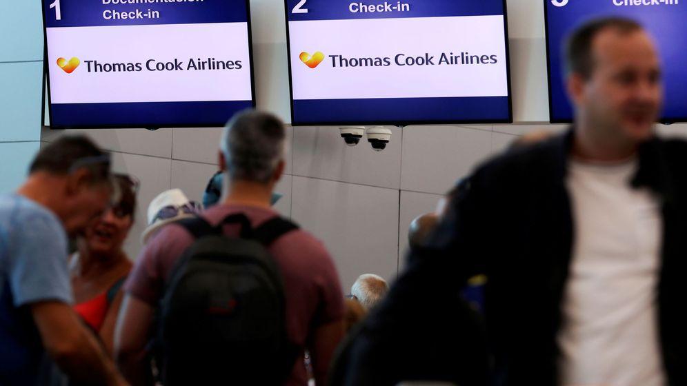 Foto: Los mostradores de Thomas Cook en el aeropuerto de Cancún, de donde partió el avión (Reuters/Jorge Delgado)