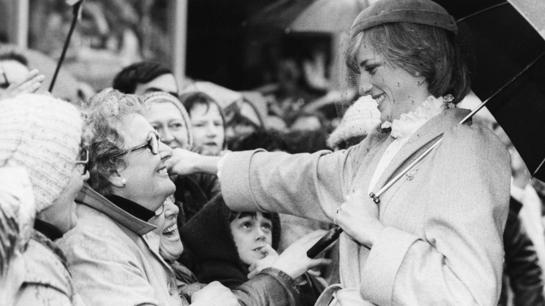 La princesa Diana, en la visita a Gales en 1981. (Getty)