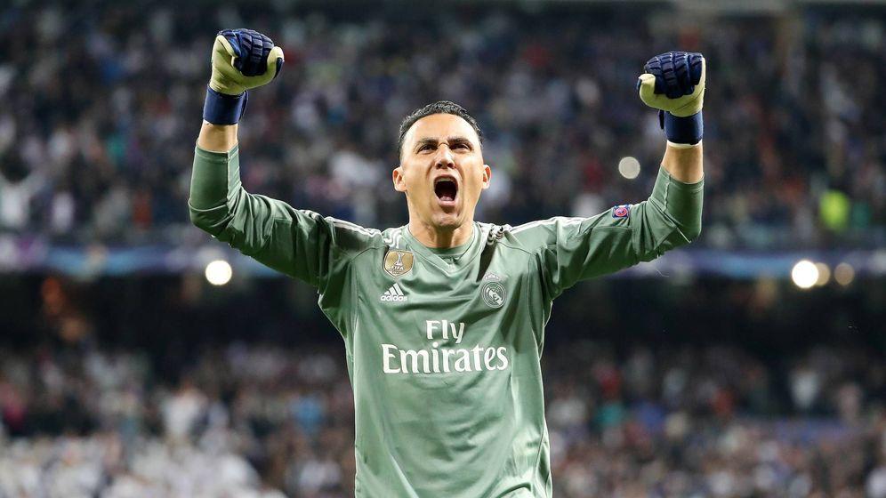 Foto: Keylor Navas celebra la clasificación del Real Madrid para la final de la Champions League. (Imago)