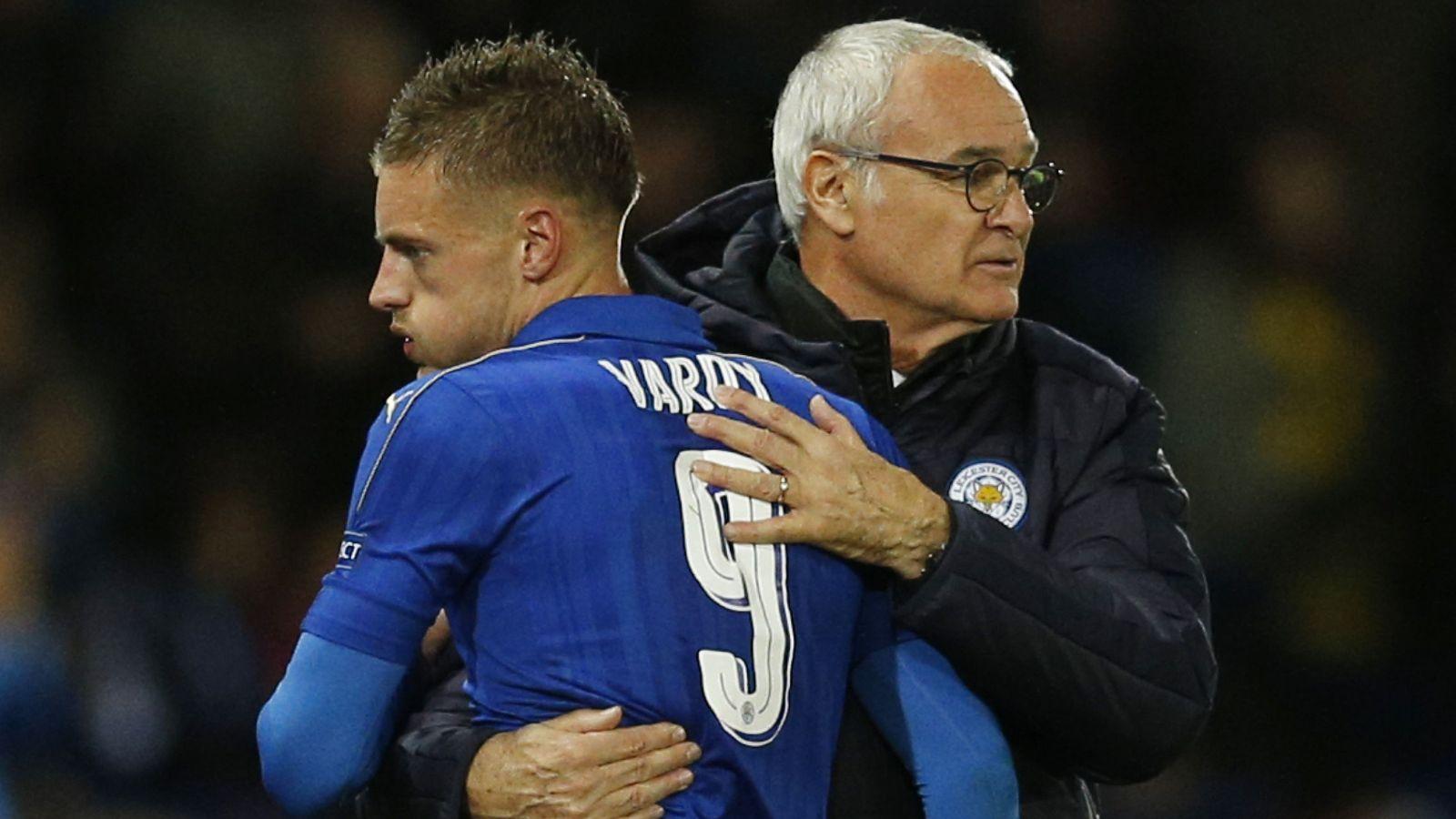 Foto: En la imagen, Claudio Ranieri y Jamie Vardy. (Reuters)