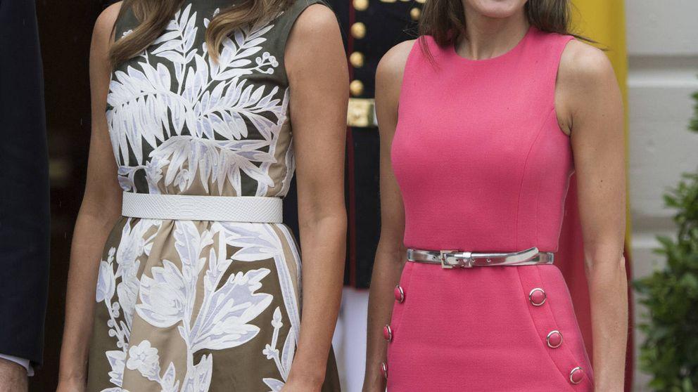 Los expertos creen que Letizia quiso mandar un mensaje al repetir vestido con Melania