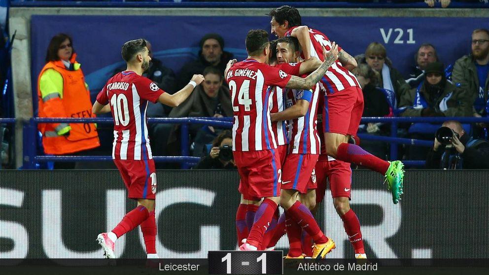 El Atlético, un grande de Europa, hace solo lo justo para desarbolar al Leicester