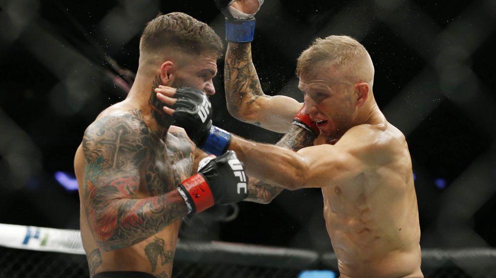 Foto: Dillashaw (d) y Garbrandt (i) repitieron su pelea de 2017 y el resultado fue el mismo: victoria para el primero. (USA TODAY Sports)