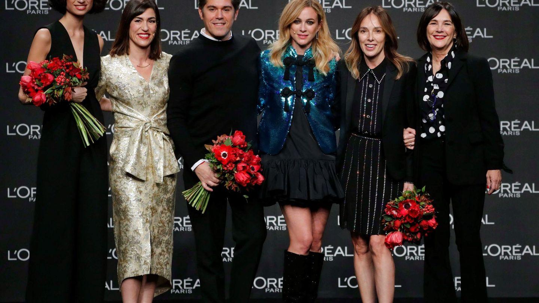 La modelo Ana Arto, la diseñadora Teresa Helbig, Jorge Vázquez y Charo Izquierdo.  (EFE)