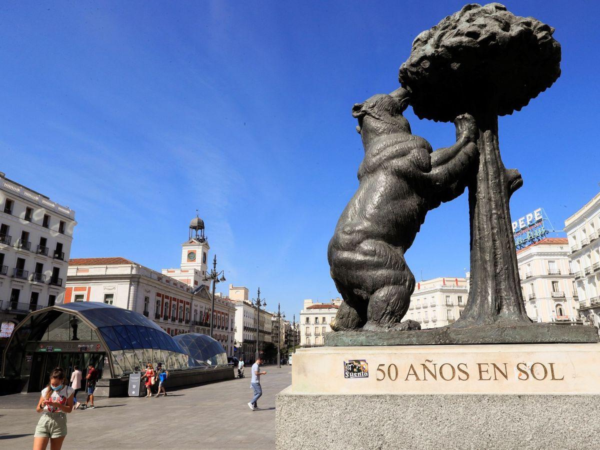 Foto: Una imagen de la Puerta del Sol. (Efe)