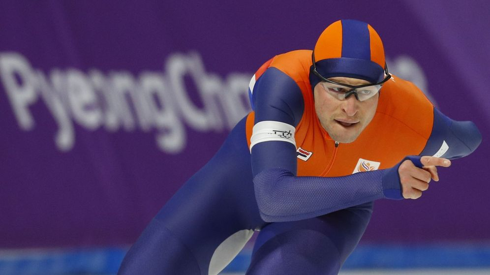 Foto: Sven Kramer, en la carrera de la victoria. (Reuters)