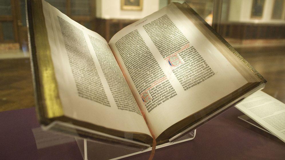 Foto: La Biblia de Gutenberg