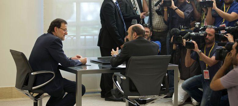 Foto: Mariano Rajoy y Alfredo Pérez Rubalcaba a la búsqueda del consenso cultural (EFE)
