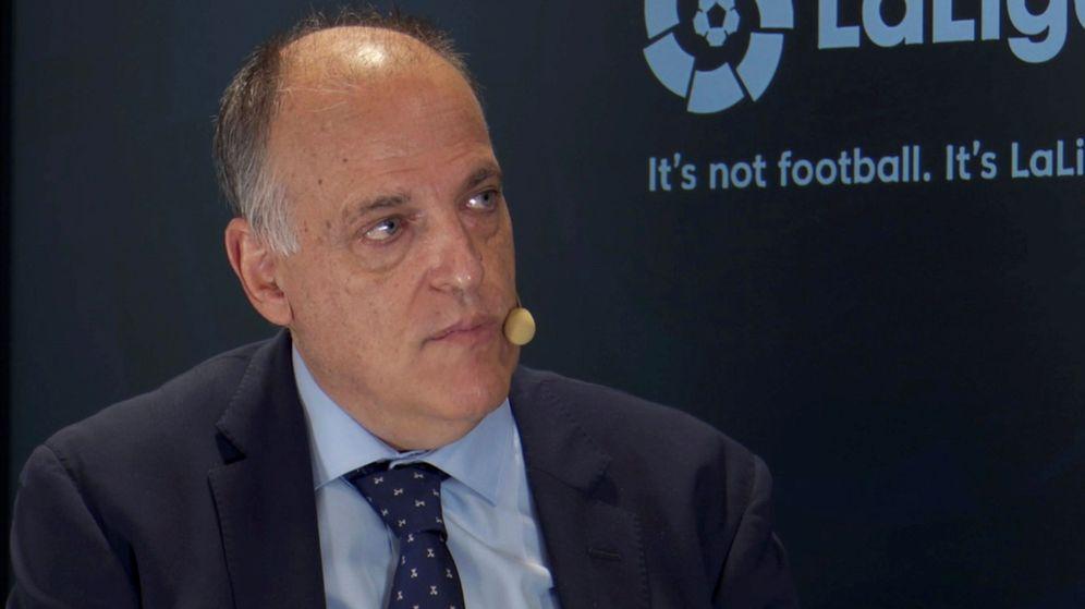 Foto: Javier Tebas, presidente de la Liga de Fútbol Profesional. (EFE)