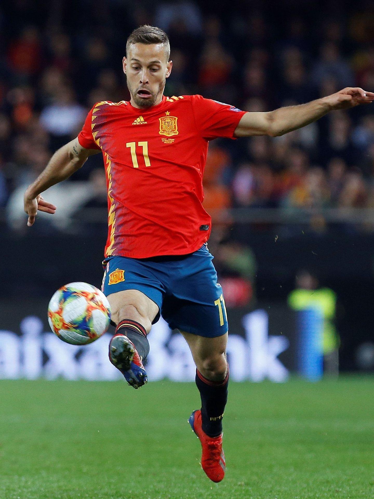 Canales, el 23 de marzo de 2019, durante su debut (ante Noruega) con la selección española absoluta. (Efe)