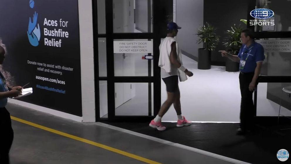 La seguridad no deja entrar a Nadal en el vestuario australiano