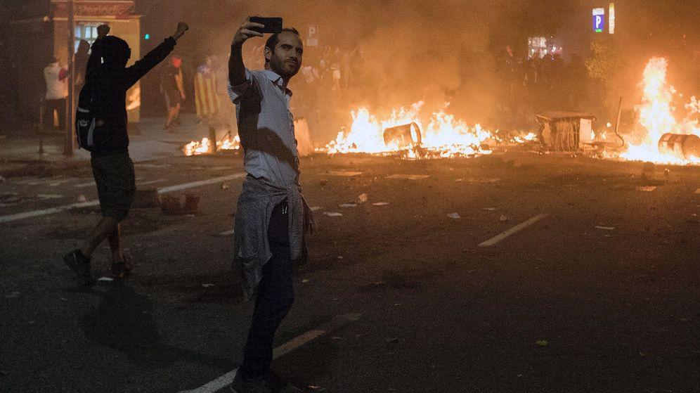 Foto: Huelga general en Cataluña en protesta por la sentencia del 'procés'.
