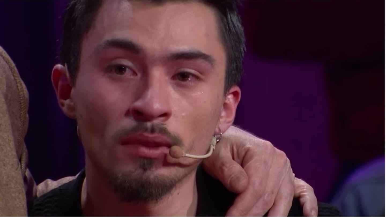 Nicolás, emocionado tras ganar el bote de 'Pasapalabra'. (Chilevisión)