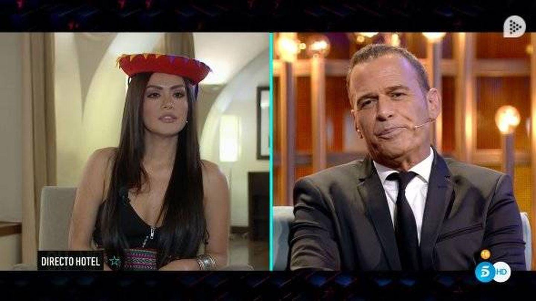Miriam Saavedra y Carlos Lozano, en 'GH VIP 6'. (Telecinco)