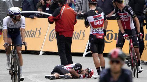 Festival macabro de caídas en la tercera etapa del Tour: Roglic pierde casi minuto y medio