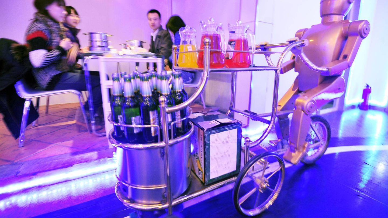 Camarero robótico del Dalu Robot Restaurant.