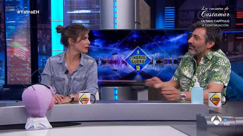 Nuria Roca y Juan del Val, en 'El hormiguero'. (Antena 3)