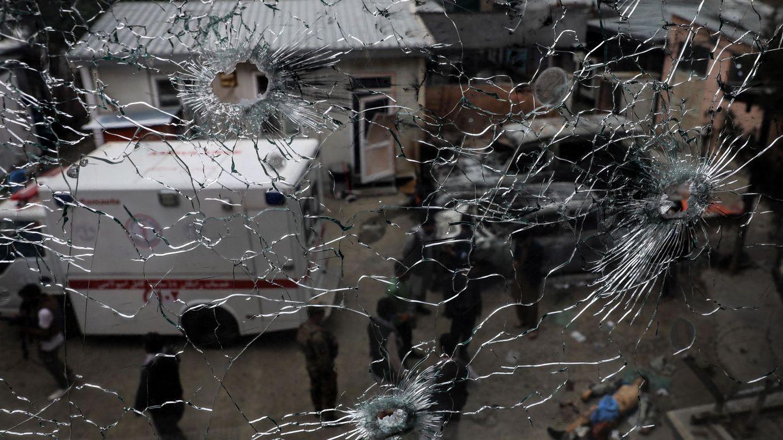 Foto: Una bala que entró por la ventana del hospital. (EFE)