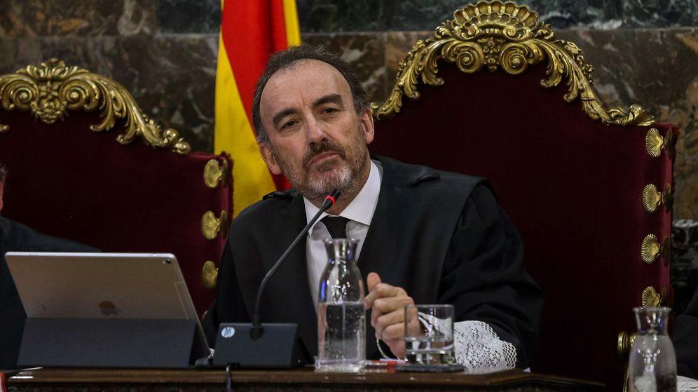 Foto: El magistrado Manuel Marchena, en una sesión del juicio del 'procés'. (EFE)