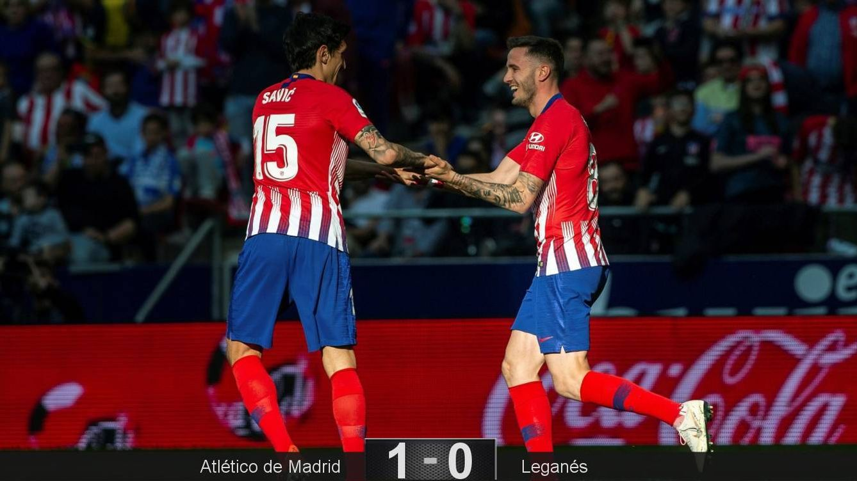 Foto: Saúl marcó el gol de la victoria del Atlético ante el Leganés. (EFE)