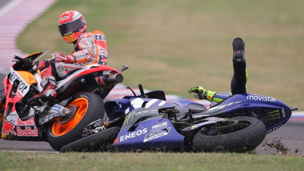 El desprecio de Rossi a Márquez y su dura rajada: No quiero verle. Vino a por mí