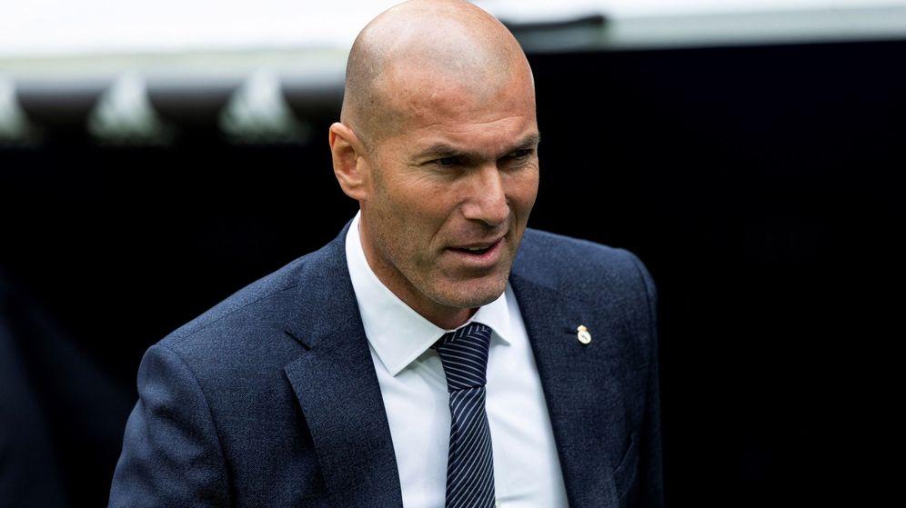 Foto: Zidane, frente al Athletic Club, este domingo. (EFE)