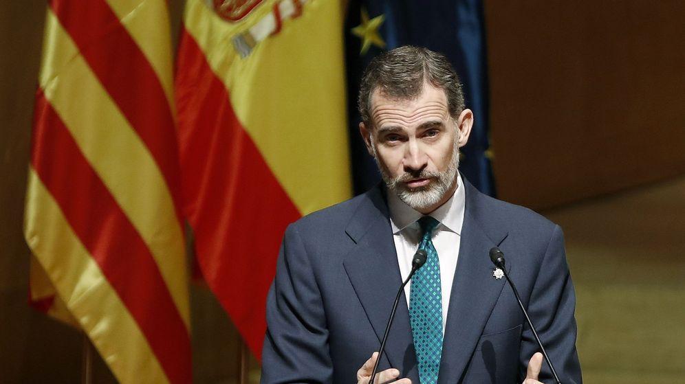 Foto: El rey Felipe, el pasado lunes, en el Auditori de Barcelona. (EFE)