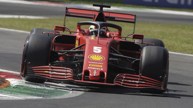 Sebastian Vettel durante el Gran Premio de Italia. (EFE)