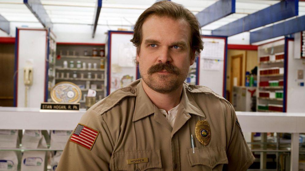 Foto: David harbour en el papel de Hopper. (Netflix)