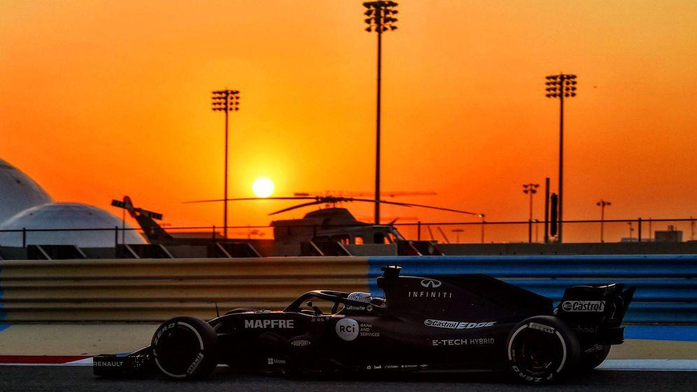 Foto: Fernando Alonso durante su segundo día de test en Baréin. (Fernando Alonso)