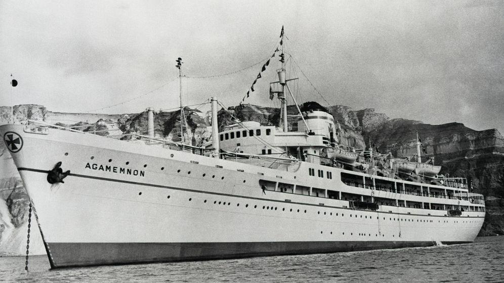 Foto:  La imagen del Agamenón, el crucero de la realeza. (Getty)