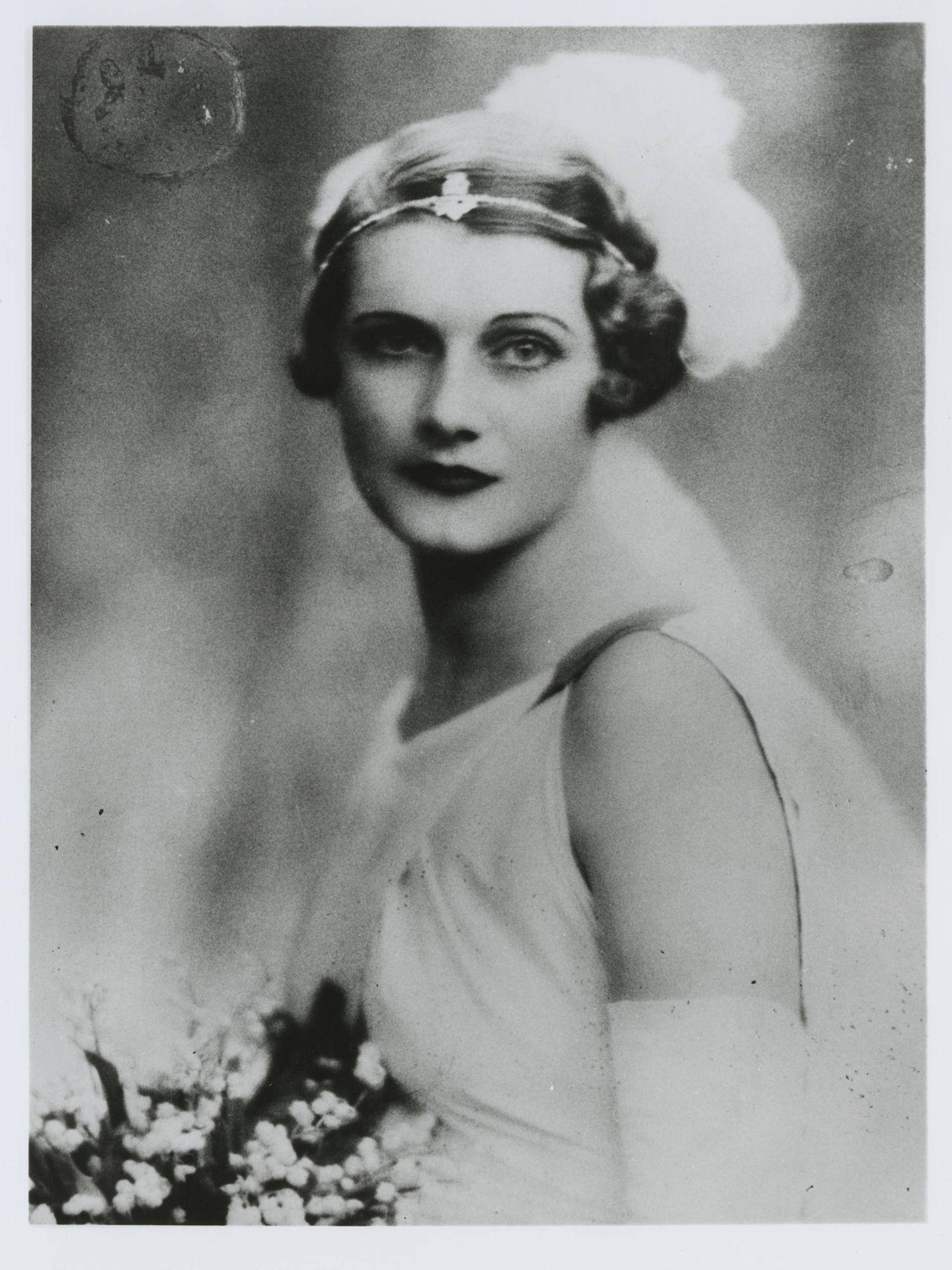 Betty Pack en su primera boda.