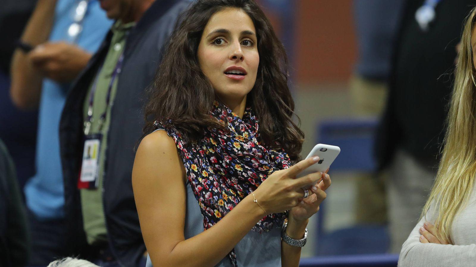 Foto: María Francisca, viendo un partido de su prometido. (Getty)