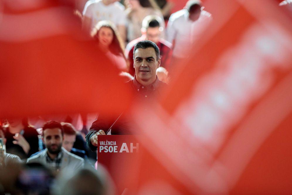 Foto: Pedro Sánchez, este 2 de noviembre, durante su mitin en Mislata, Valencia. (EFE)
