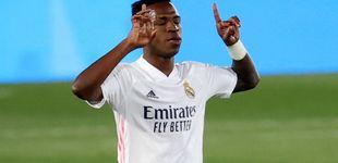 Post de Vinícius salva al Real Madrid en un partido muy flojo contra el Valladolid (1-0)