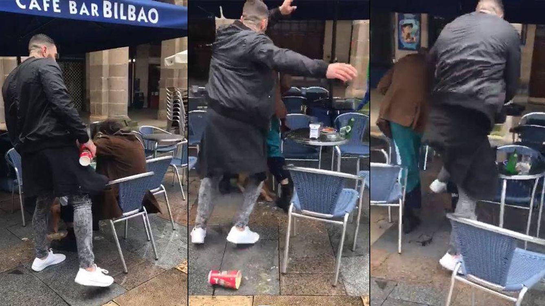 Agresión de ultras del Betis a un hombre en Bilbao al grito de ¡arriba España!