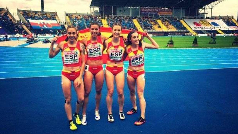 El histórico oro de España en el 4x100 femenino