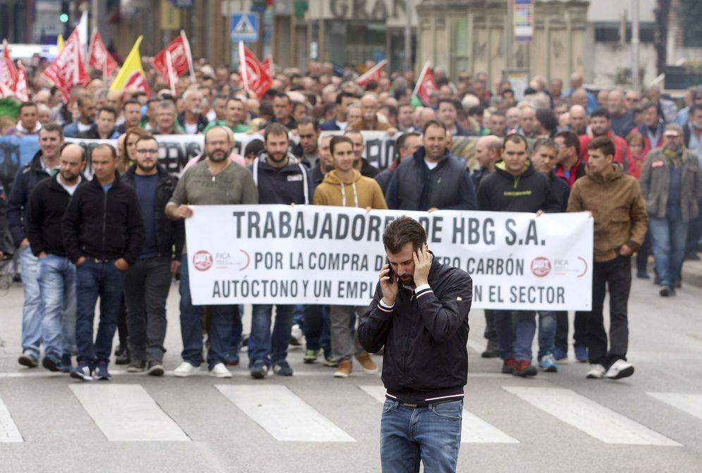 Foto: Manifestación minera en Ponferrada (EFE)