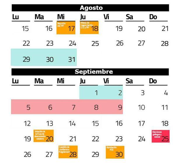 Foto:  El calendario que decidirá el futuro del país. (C. Castellón)