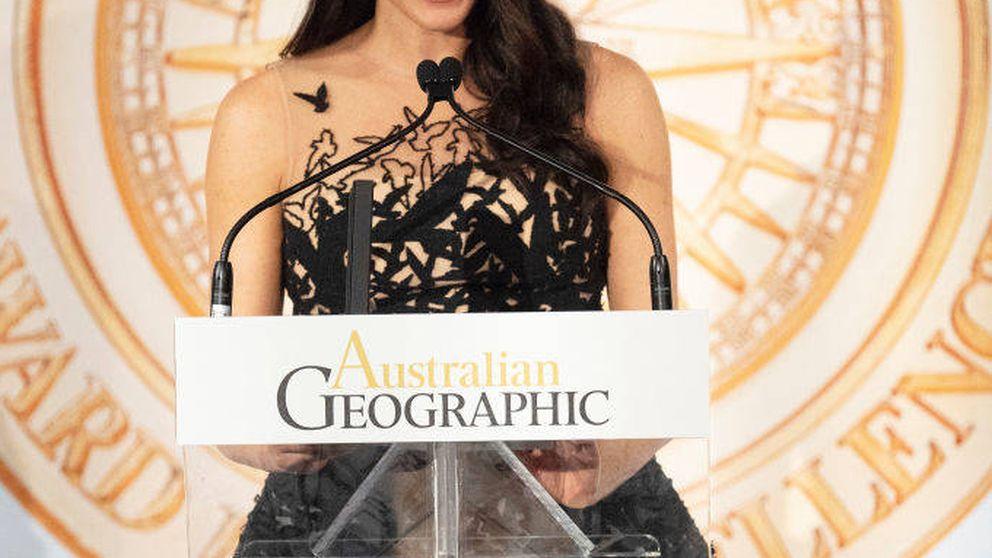 Meghan Markle triunfa con un Oscar de la Renta estilo Varela de doña Letizia