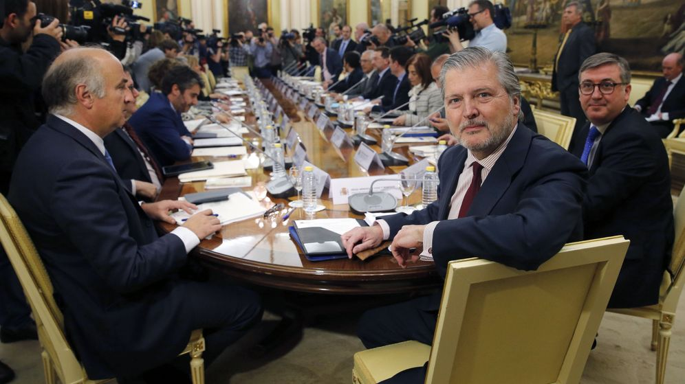 Foto: El ministro de Educación, Íñigo Méndez de Vigo, en la conferencia sectorial con los consejeros autonómicos. (EFE)