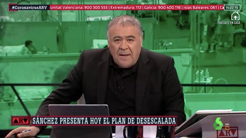 Le puede la bilis: Ferreras en La Sexta ante la difusión de un bulo por parte de Rafael Hernando