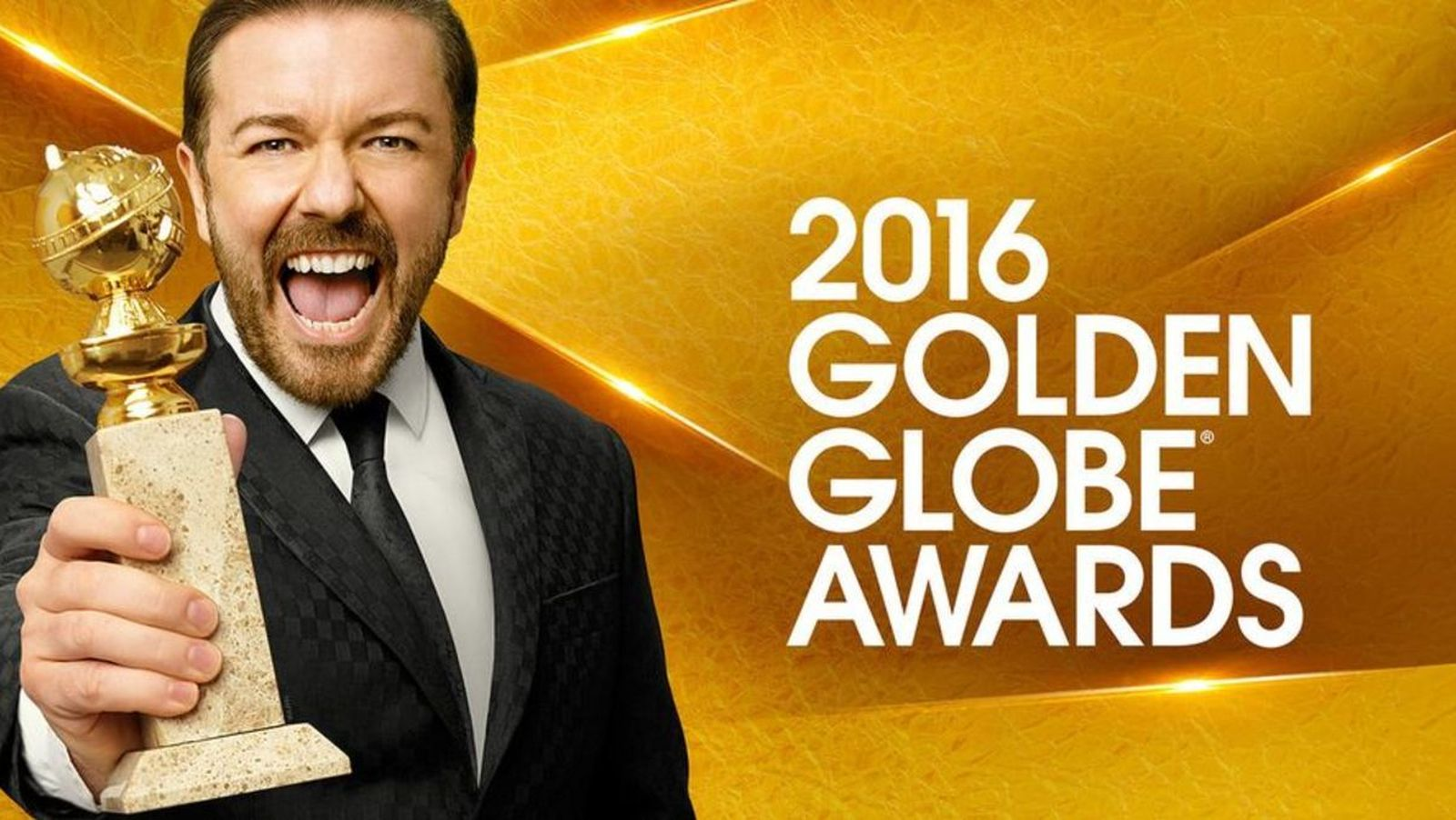 Foto: Ricky Gervais presenta la gala de los Globos de Oro 2016.