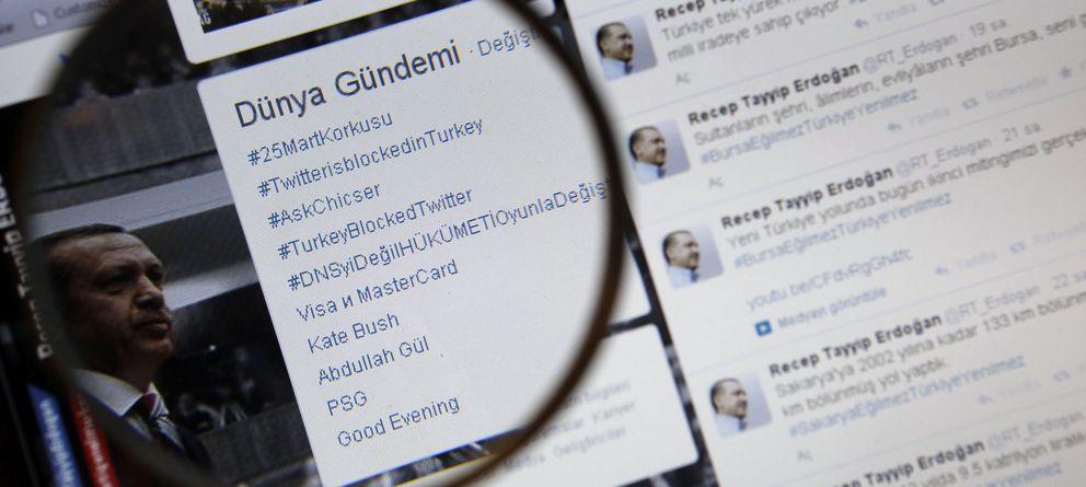 Foto: Un montaje sobre el cierre de Twitter decretado en Turquía por el Primer Ministro. (Reuters)